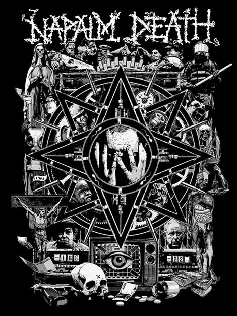 Napalm Death Artwork design | Fabrice Lavollay